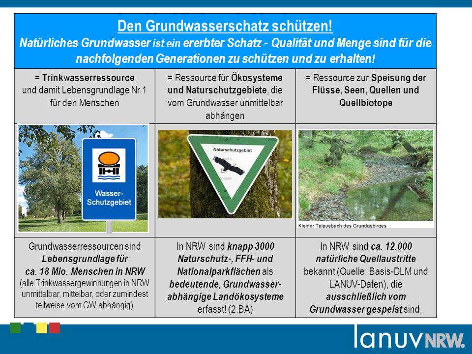 Den Grundwasserschatz schützen!