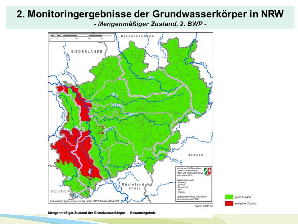 2. Monitoringergebnisse der Grundwasserkörper in NRW