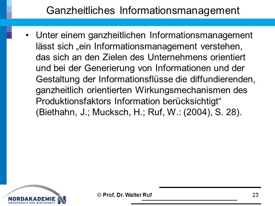 Ganzheitliches Informationsmanagement