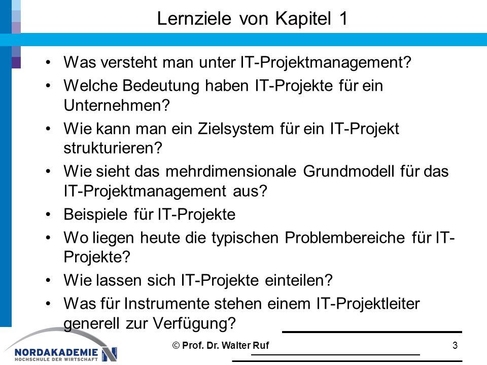 Lernziele von Kapitel 1 Was versteht man unter IT-Projektmanagement