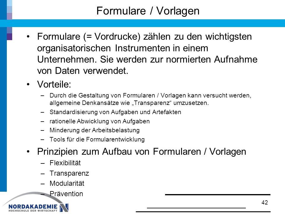 Formulare / Vorlagen
