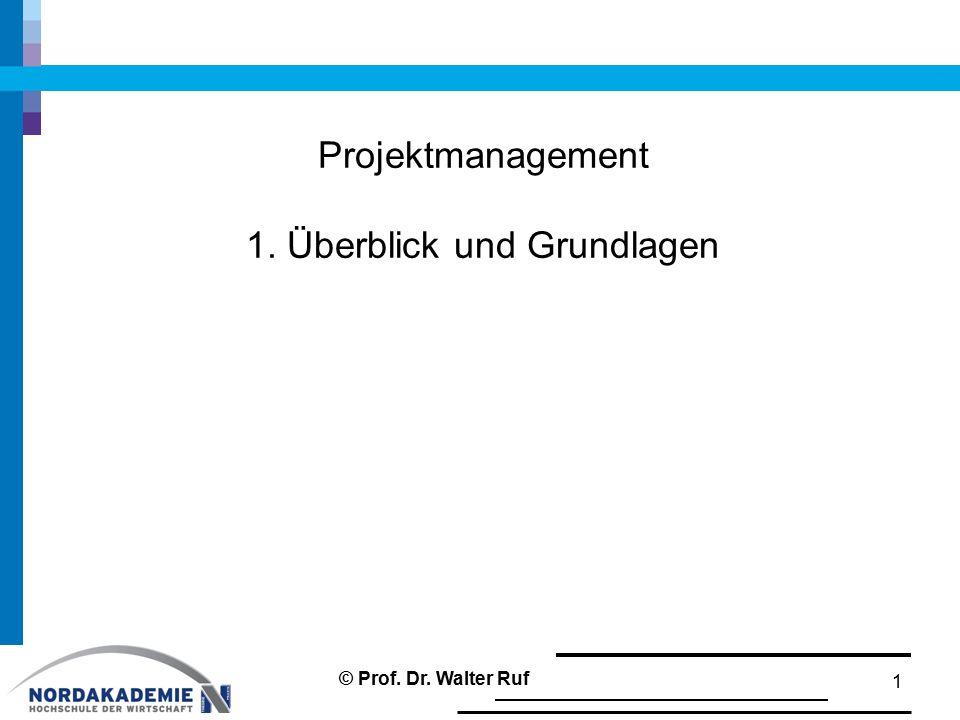 Projektmanagement 1. Überblick und Grundlagen