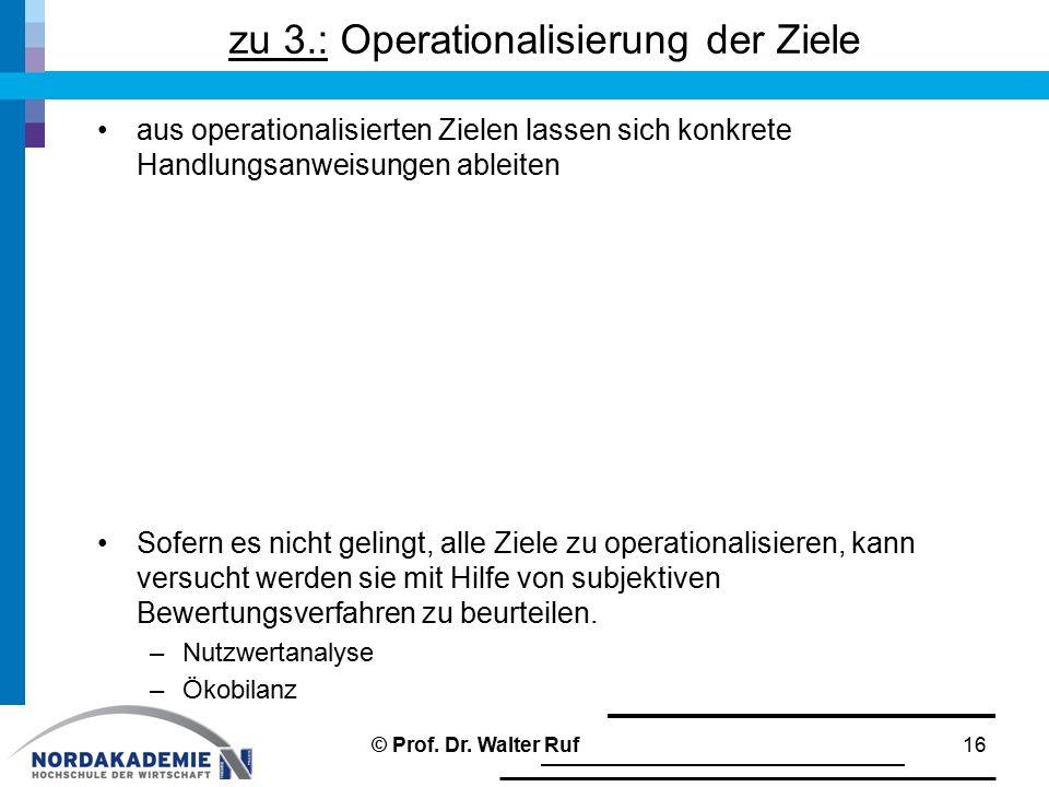 zu 3.: Operationalisierung der Ziele