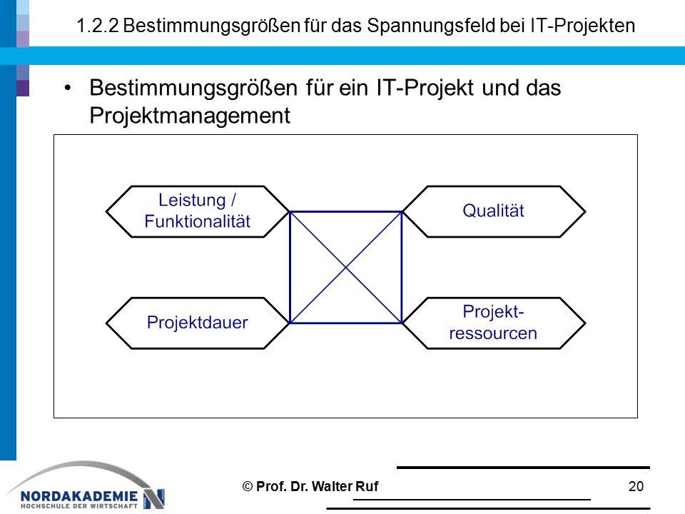 1.2.2 Bestimmungsgrößen für das Spannungsfeld bei IT-Projekten