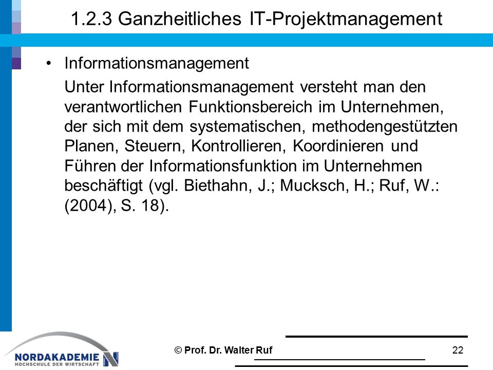 1.2.3 Ganzheitliches IT-Projektmanagement