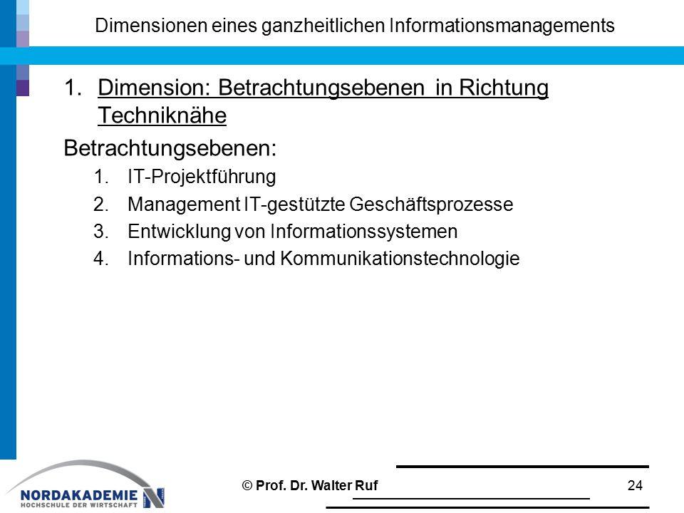 Dimensionen eines ganzheitlichen Informationsmanagements