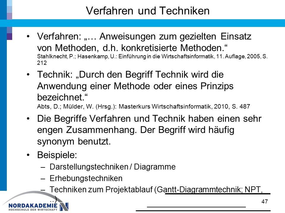 Verfahren und Techniken