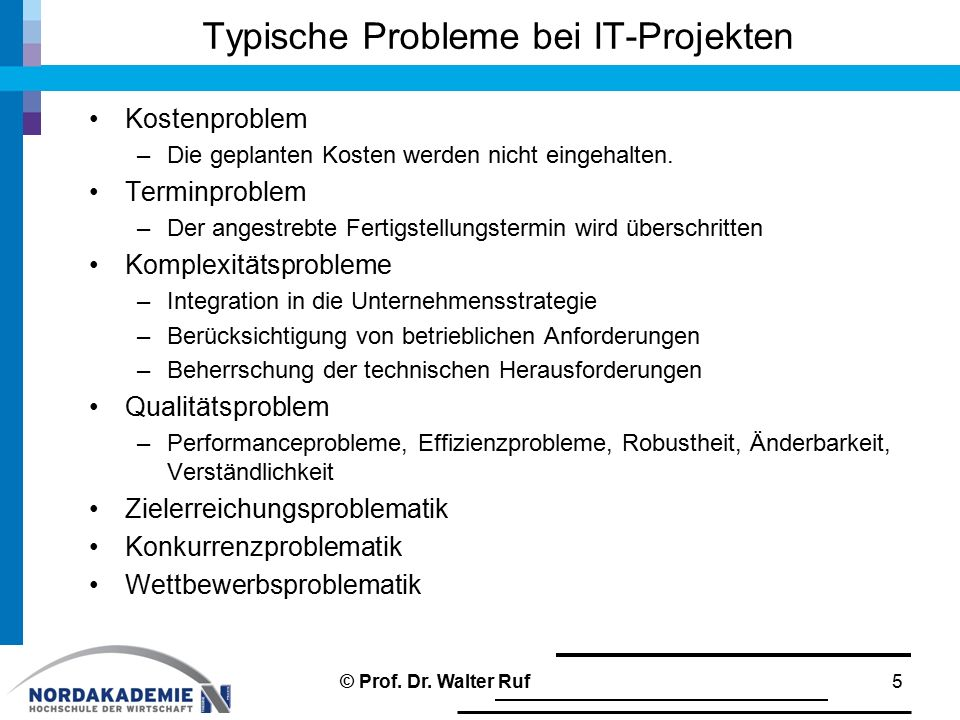 Typische Probleme bei IT-Projekten