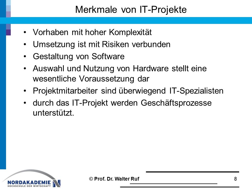 Merkmale von IT-Projekte
