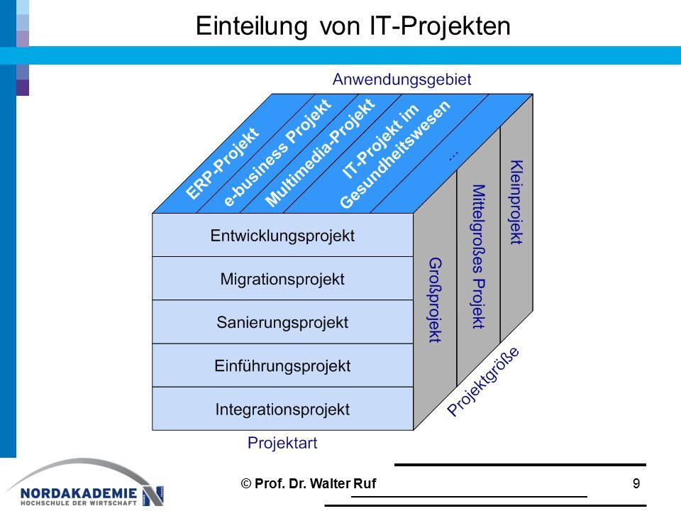 Einteilung von IT-Projekten