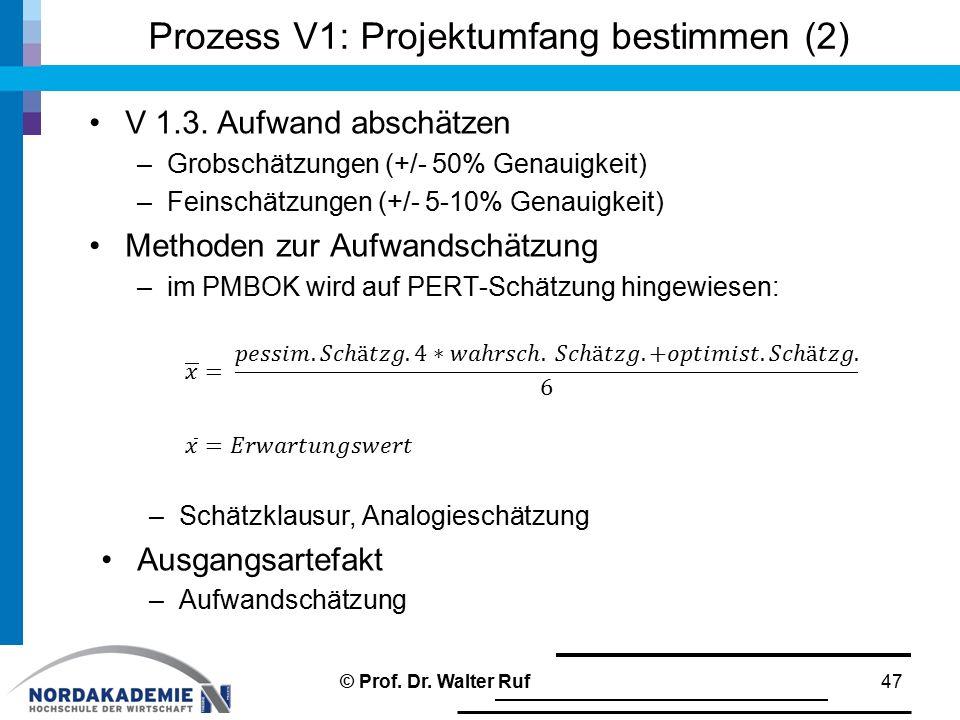 Prozess V1: Projektumfang bestimmen (2)