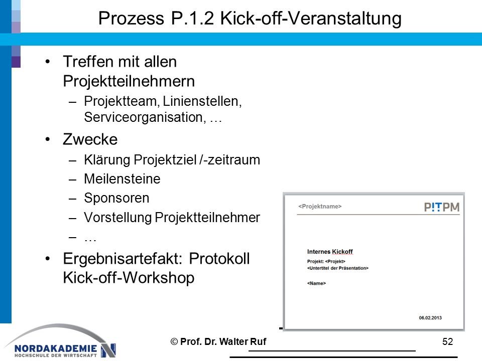 Prozess P.1.2 Kick-off-Veranstaltung