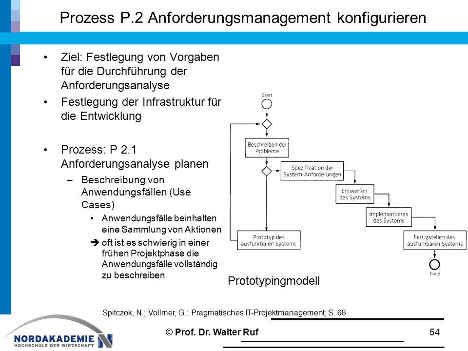 Prozess P.2 Anforderungsmanagement konfigurieren