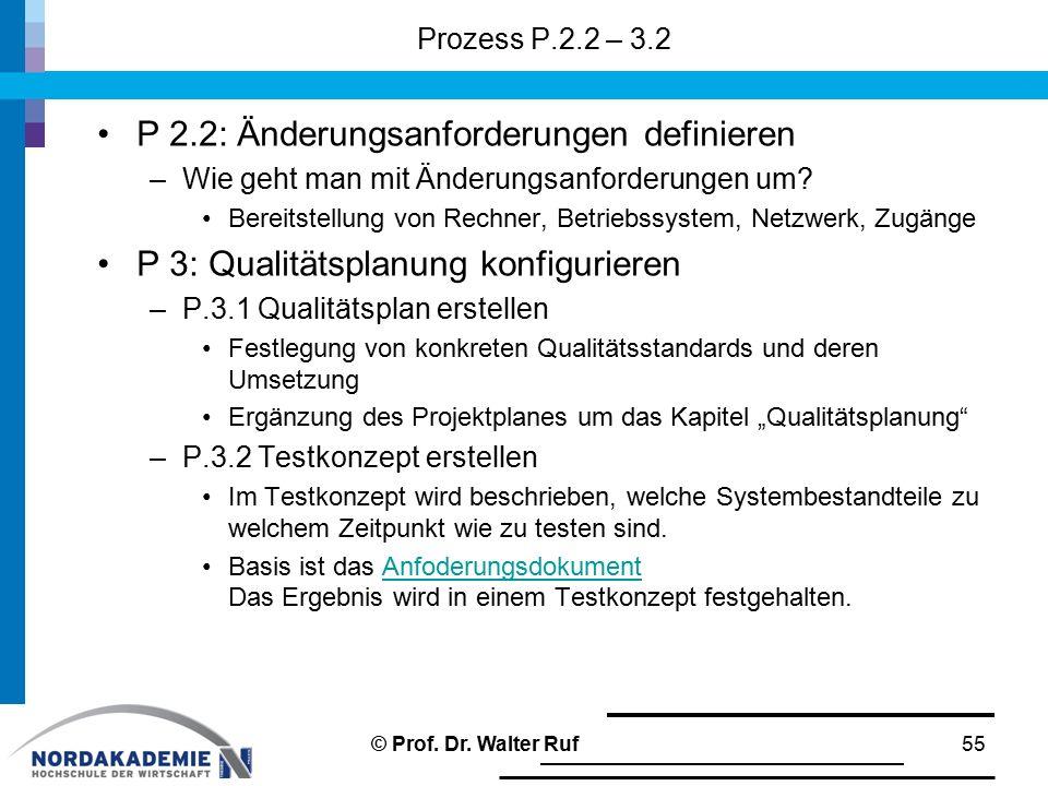 P 2.2: Änderungsanforderungen definieren