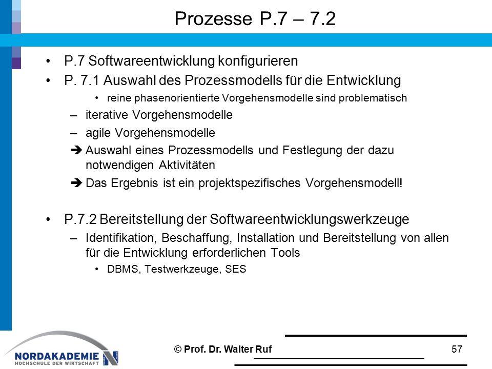 Prozesse P.7 – 7.2 P.7 Softwareentwicklung konfigurieren