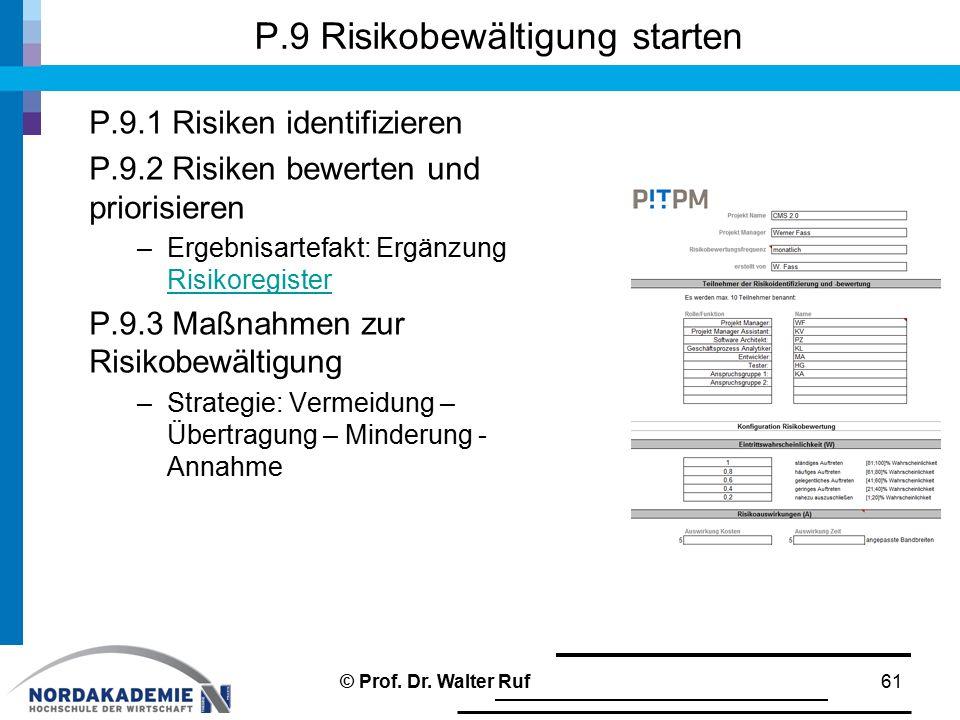 P.9 Risikobewältigung starten