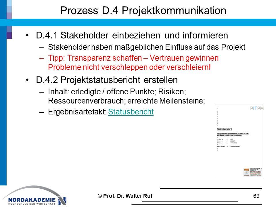 Prozess D.4 Projektkommunikation