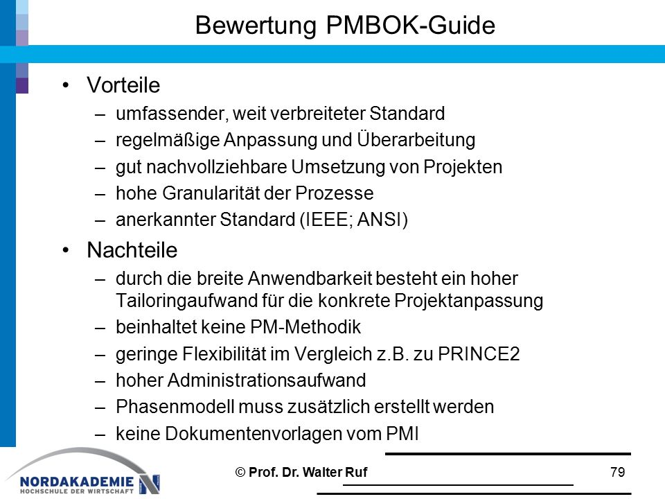 Bewertung PMBOK-Guide