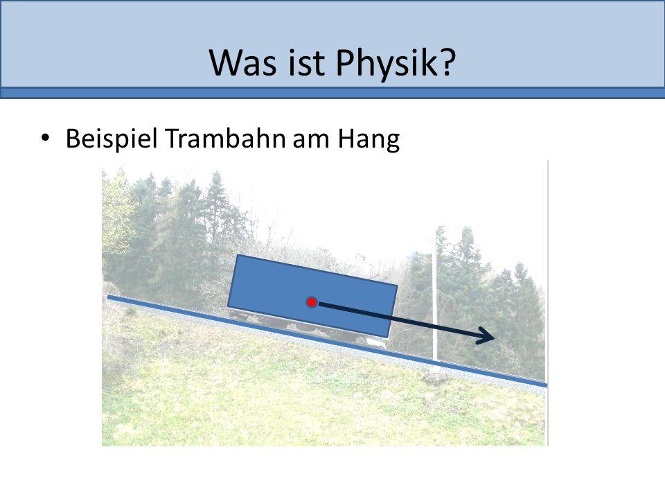 Was ist Physik Beispiel Trambahn am Hang