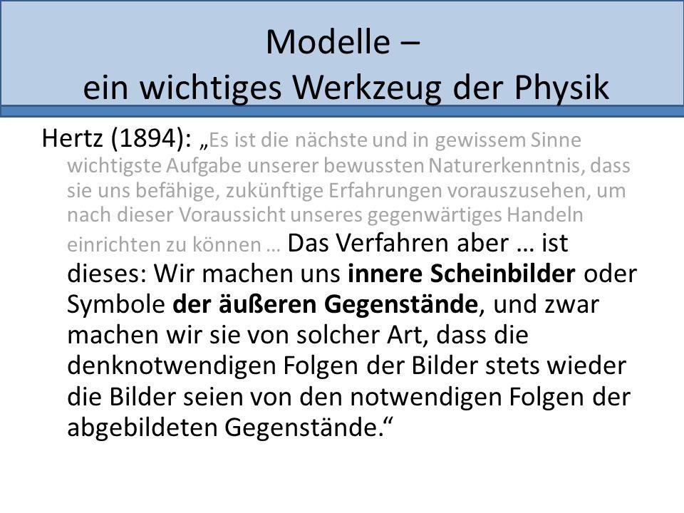 Modelle – ein wichtiges Werkzeug der Physik