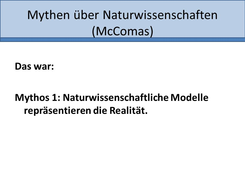 Mythen über Naturwissenschaften (McComas)
