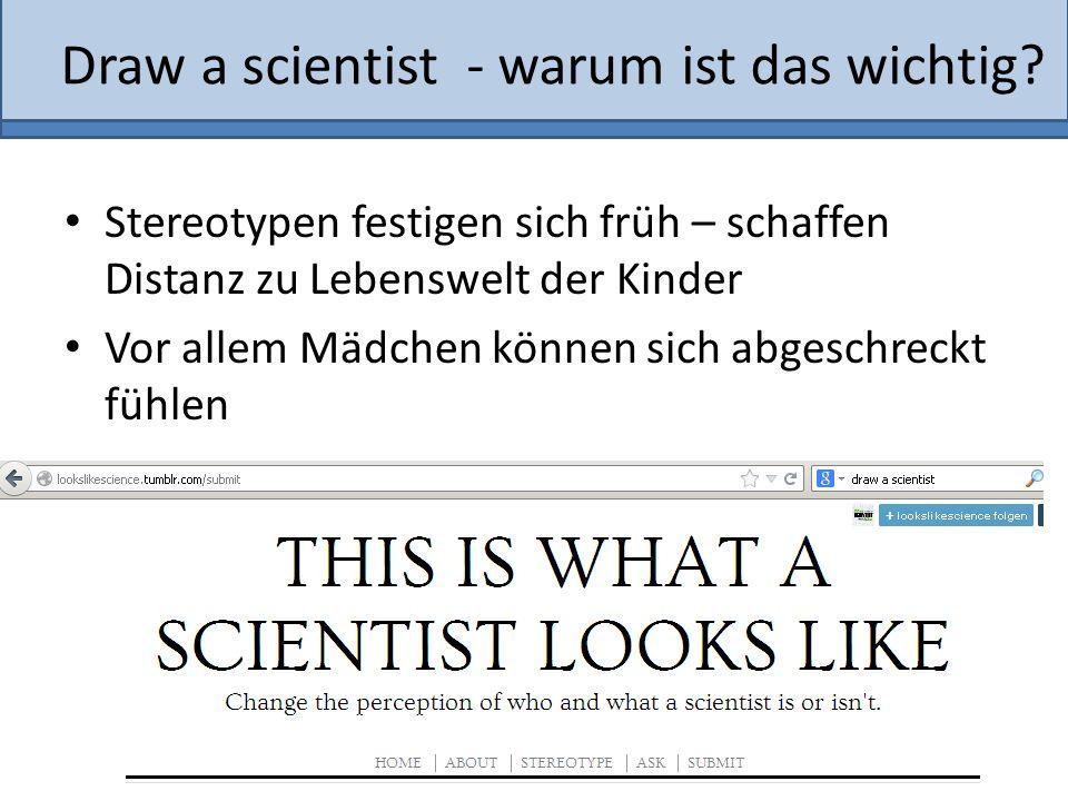 Draw a scientist - warum ist das wichtig