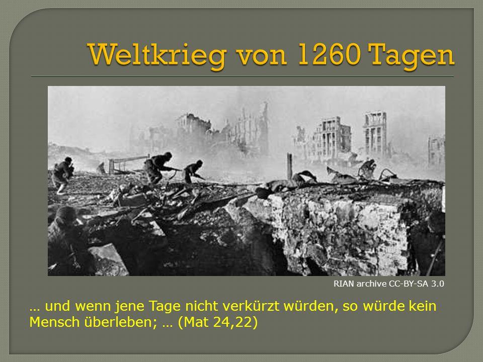 Weltkrieg von 1260 Tagen RIAN archive CC-BY-SA 3.0. … und wenn jene Tage nicht verkürzt würden, so würde kein.
