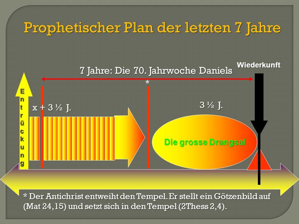 Prophetischer Plan der letzten 7 Jahre