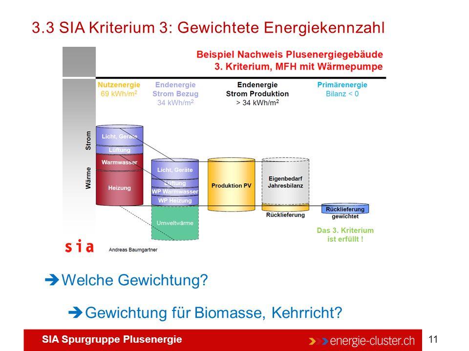 3.3 SIA Kriterium 3: Gewichtete Energiekennzahl