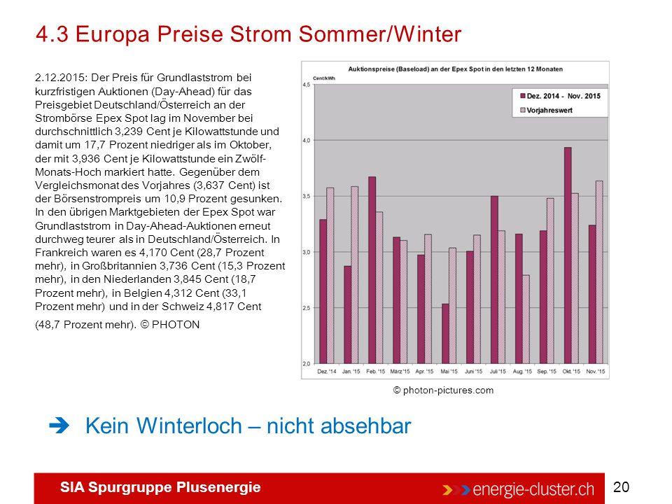 4.3 Europa Preise Strom Sommer/Winter