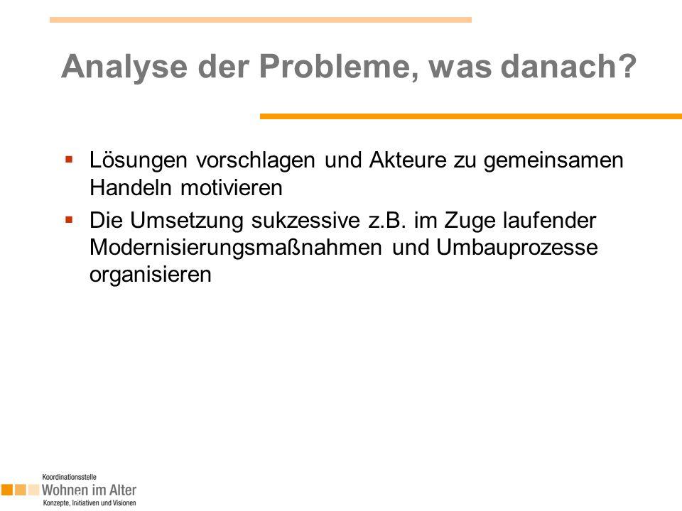 Analyse der Probleme, was danach