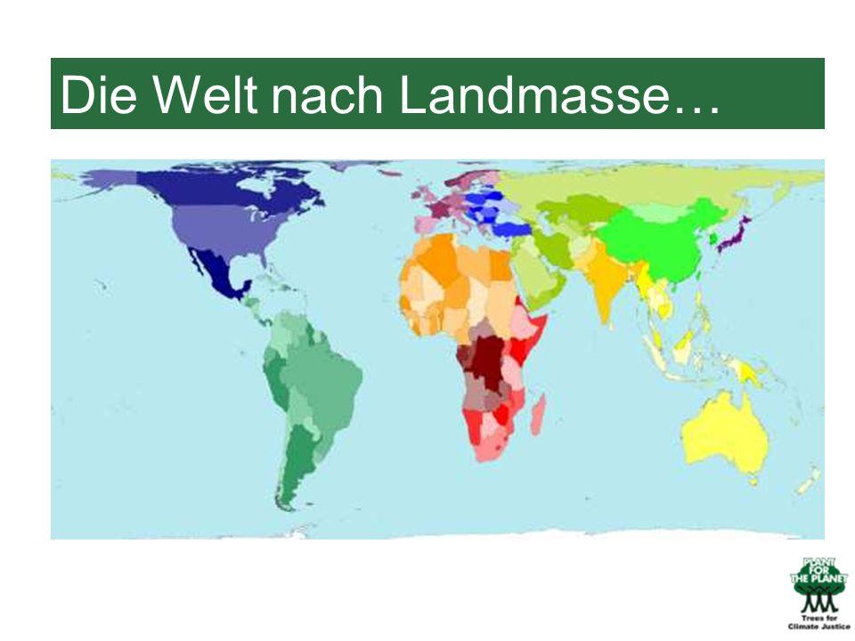 Die Welt nach Landmasse…