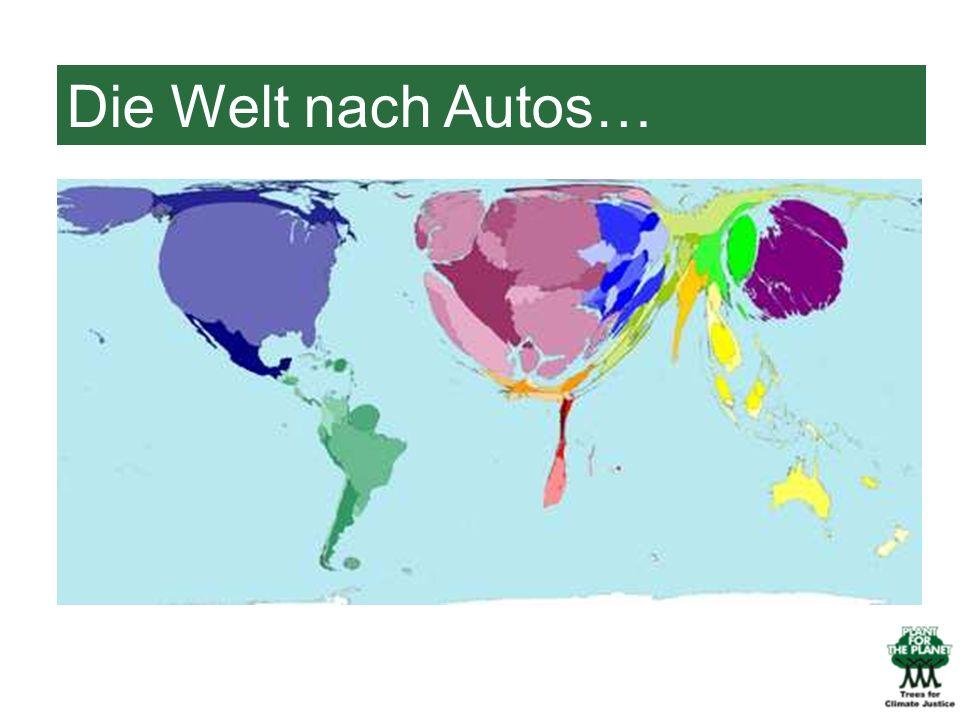 Die Welt nach Autos…Hier seht ihr dieselbe Karte, nur ist sie verzerrt.