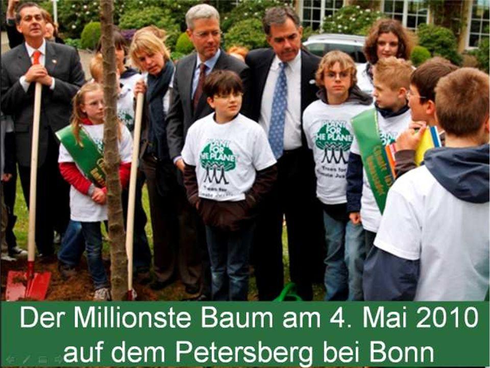 Der Millionste Baum wurde in Deutschland am 04
