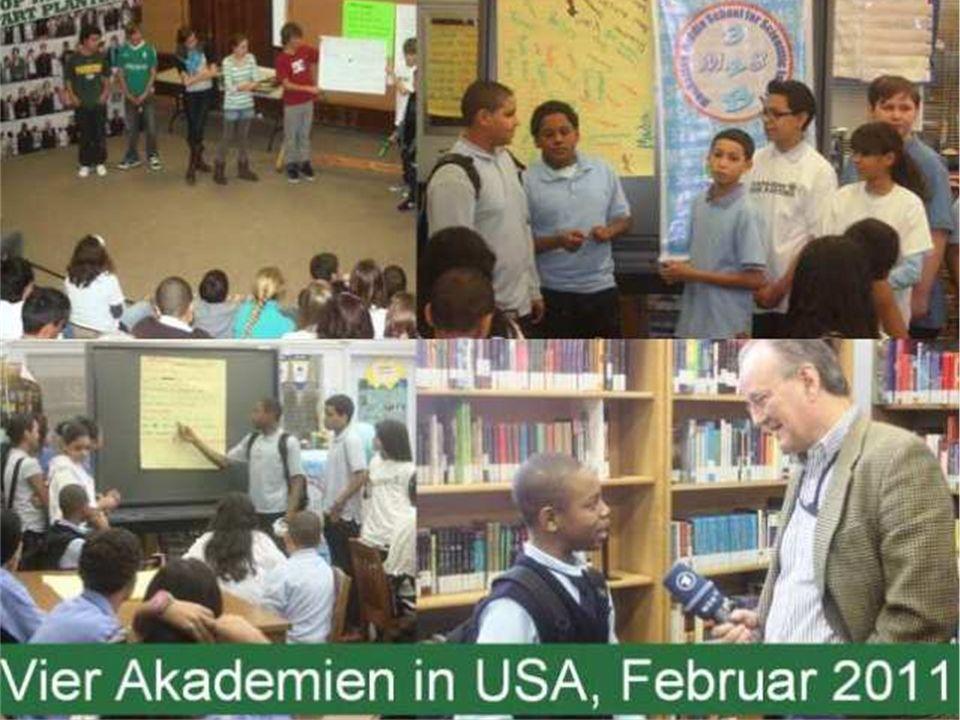 Anfang 2011 fanden die ersten Akademien in den USA statt.