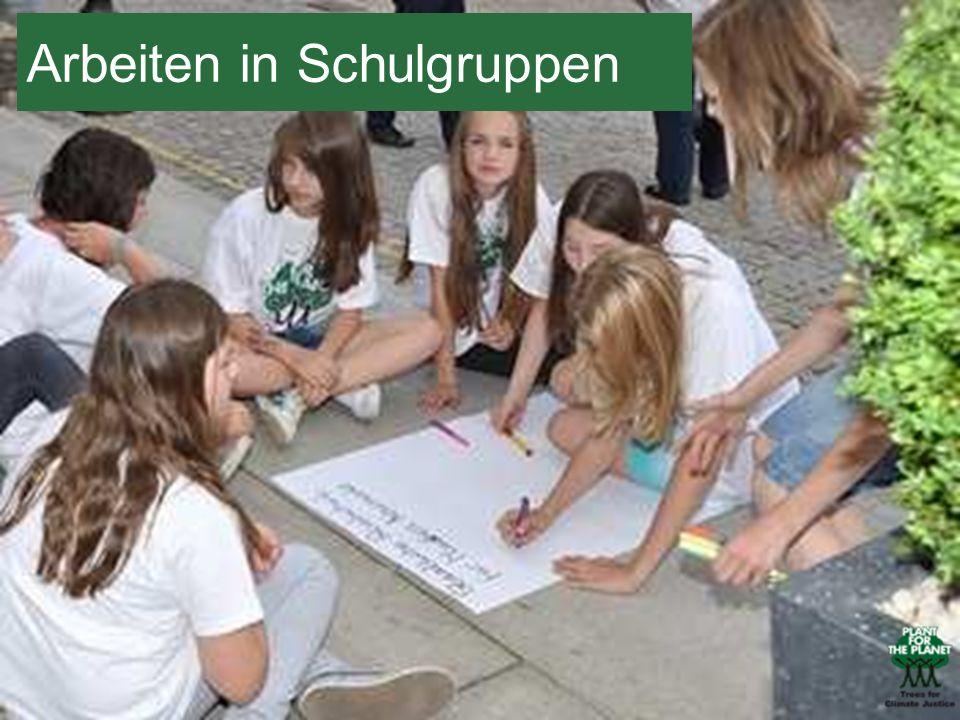 Arbeiten in Schulgruppen