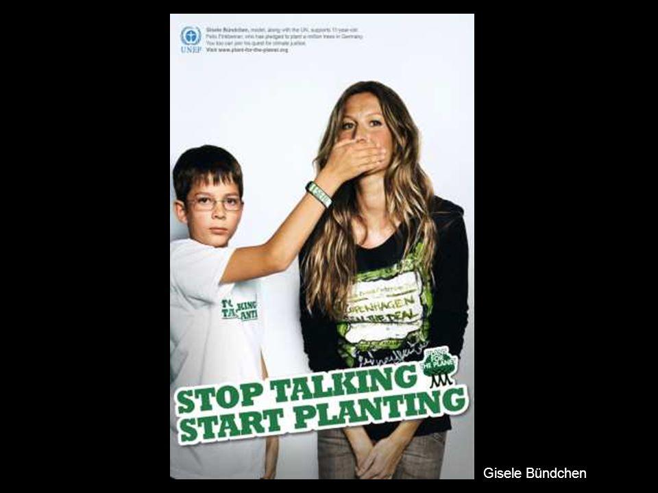 """Hier seht ihr einige """"Stop talking. Start planting Kampagnen-Bilder."""