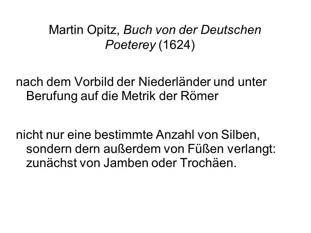 Martin Opitz, Buch von der Deutschen Poeterey (1624)