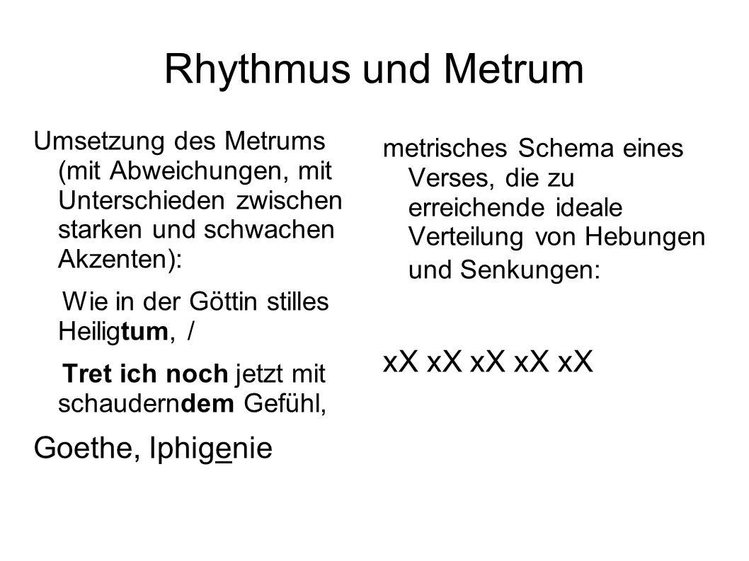 Rhythmus und Metrum xX xX xX xX xX Goethe, Iphigenie