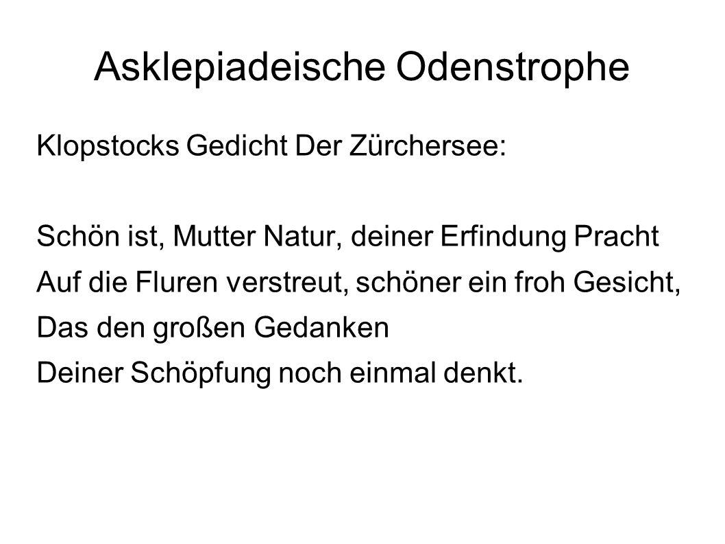 Asklepiadeische Odenstrophe