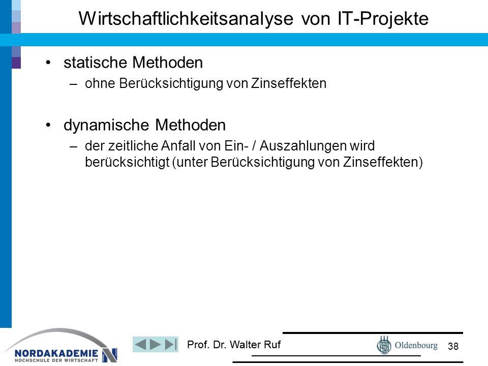 Wirtschaftlichkeitsanalyse von IT-Projekte