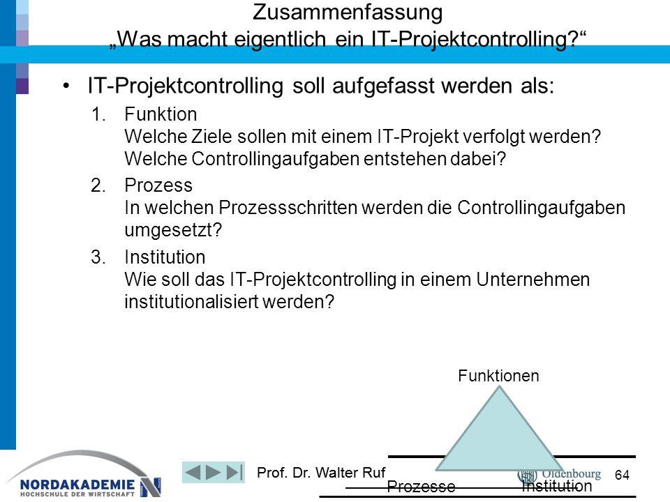 """Zusammenfassung """"Was macht eigentlich ein IT-Projektcontrolling"""