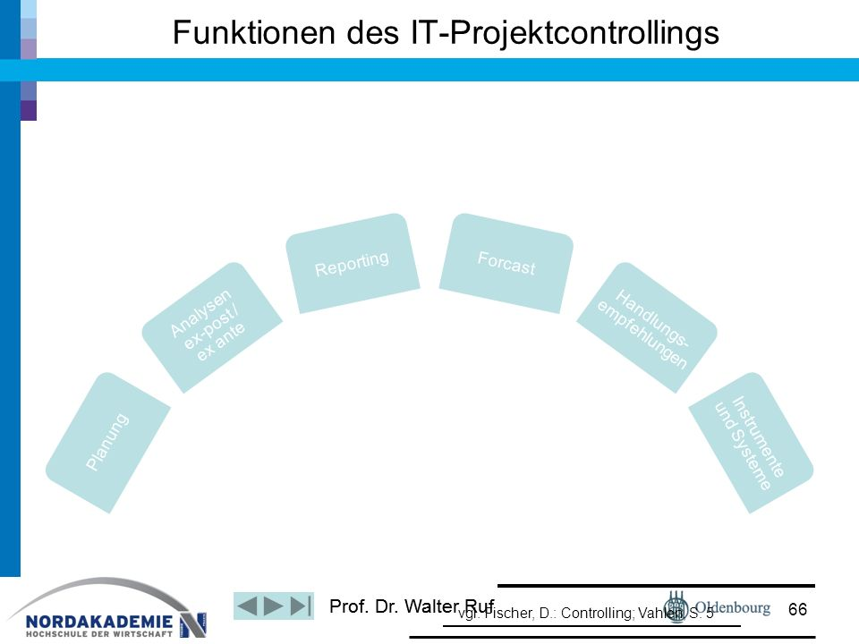 Funktionen des IT-Projektcontrollings
