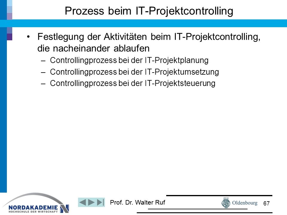 Prozess beim IT-Projektcontrolling