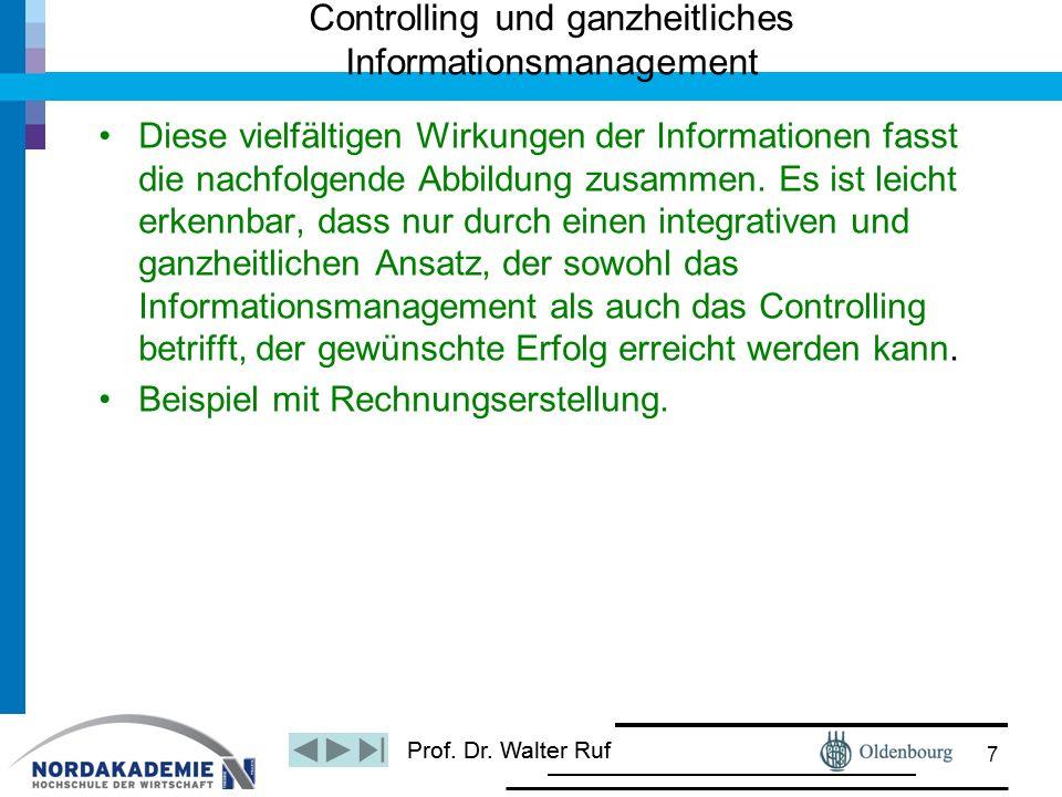 Controlling und ganzheitliches Informationsmanagement
