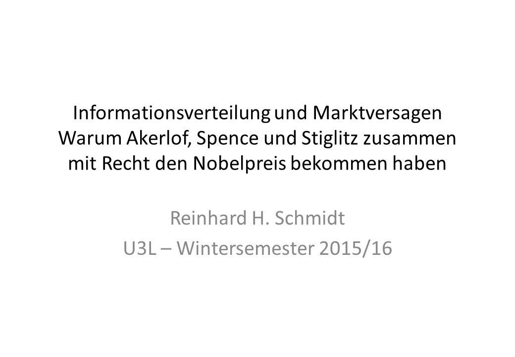 Reinhard H. Schmidt U3L – Wintersemester 2015/16