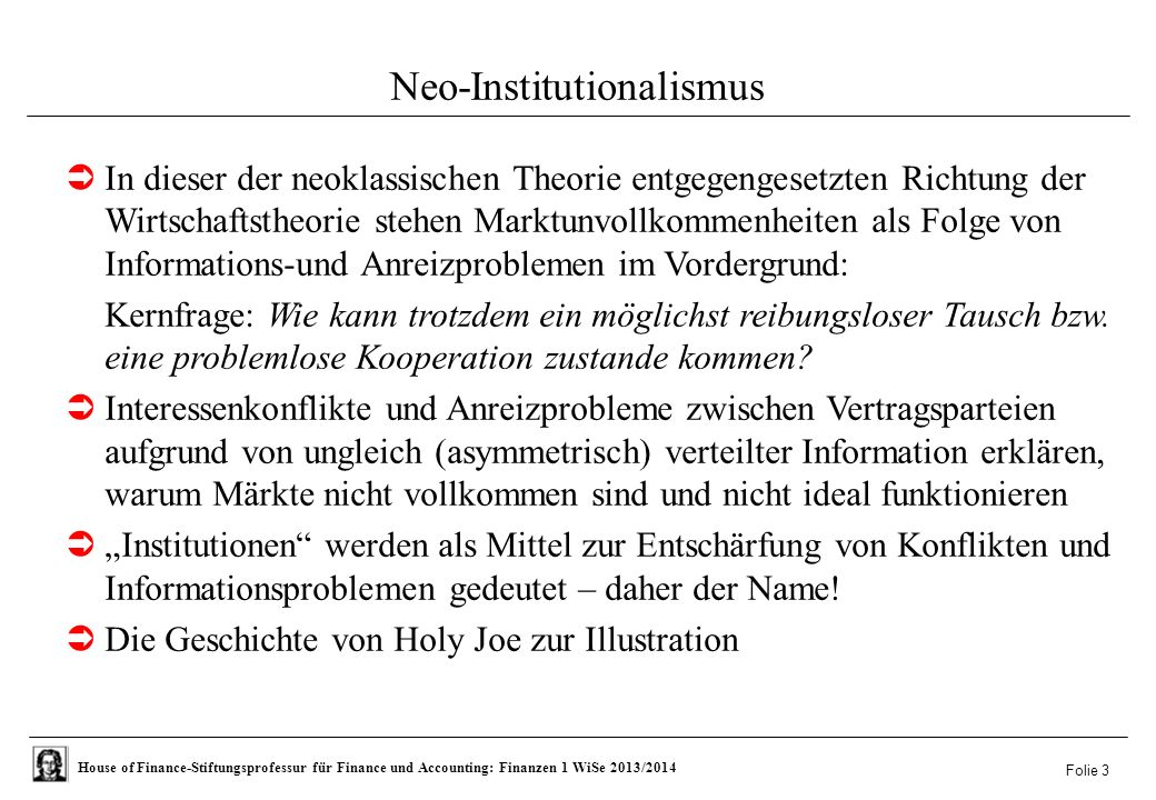 Neo-Institutionalismus