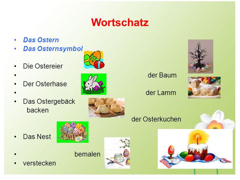 Wortschatz Das Ostern Das Osternsymbol Die Ostereier der Baum