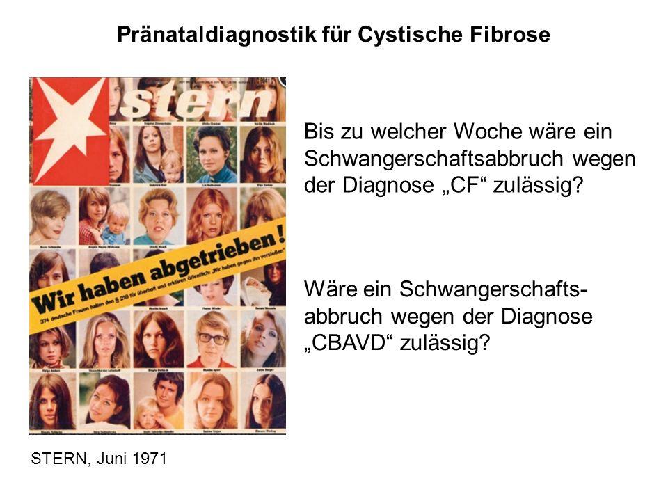 Pränataldiagnostik für Cystische Fibrose