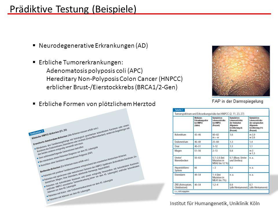 Prädiktive Testung (Beispiele)